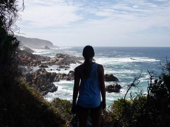 Garden Route travel tips cover image of Kim in Tsitsikamma National Park