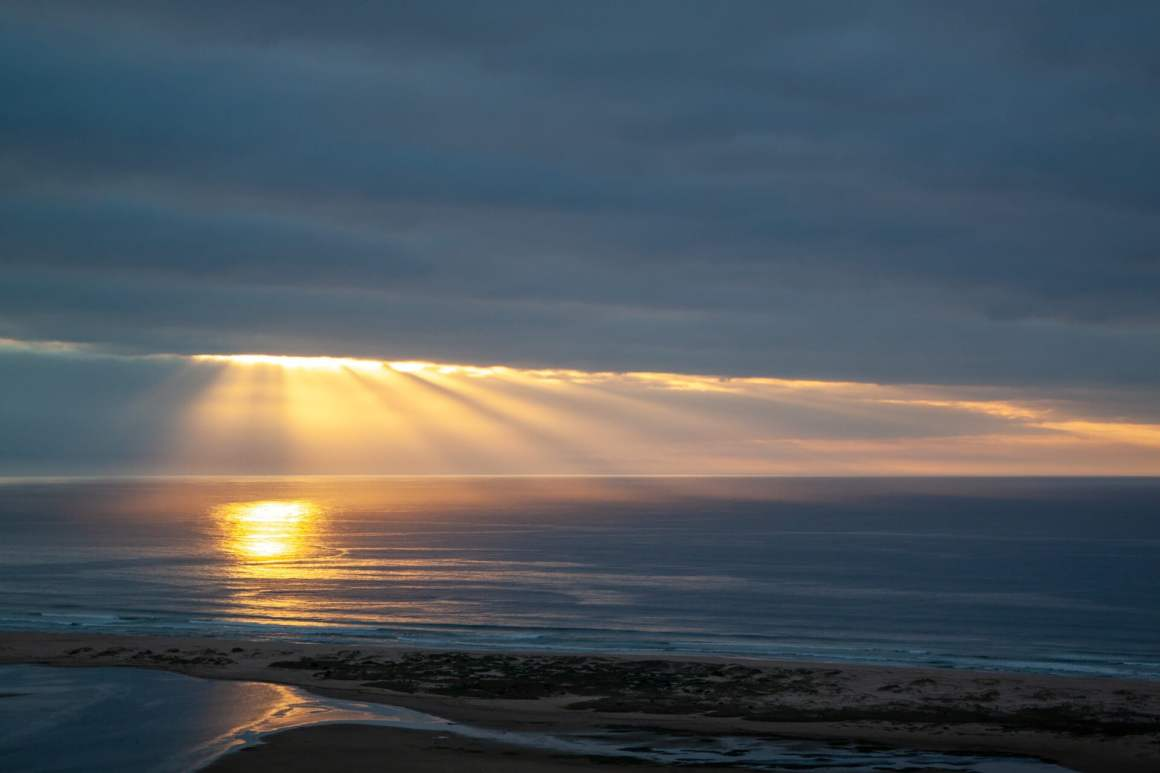 Beautiful sunrise viewed from La Vista Lodge in Plettenberg Bay.