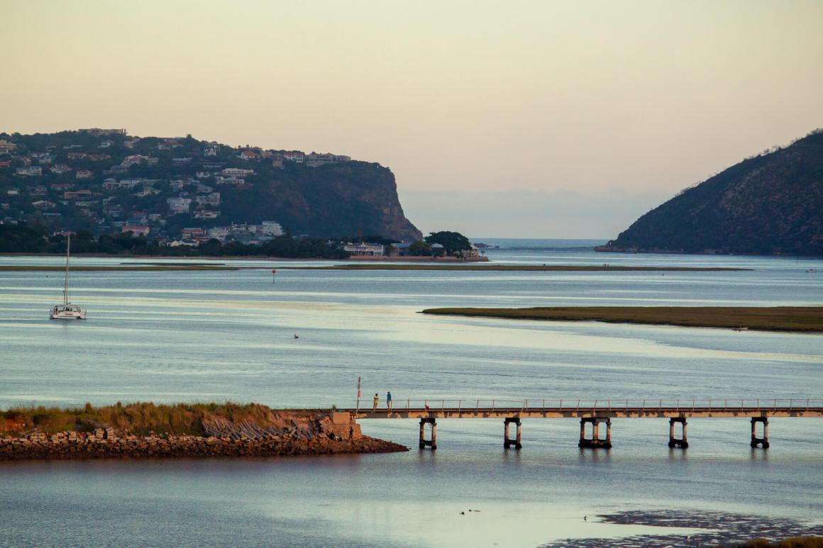 Knysna lagoon and the Heads in the distance.