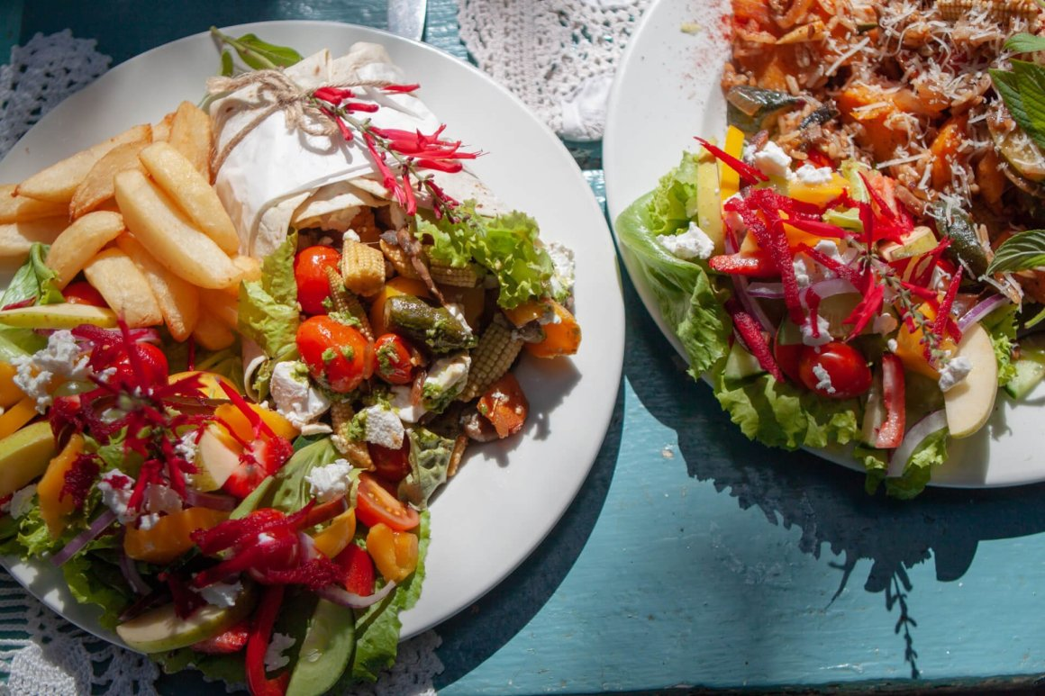 Delicious dishes from Tottie's Restaurant, which is outside of Knysna on the Garden Route.