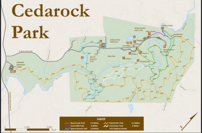 Cedar Rock Park Map