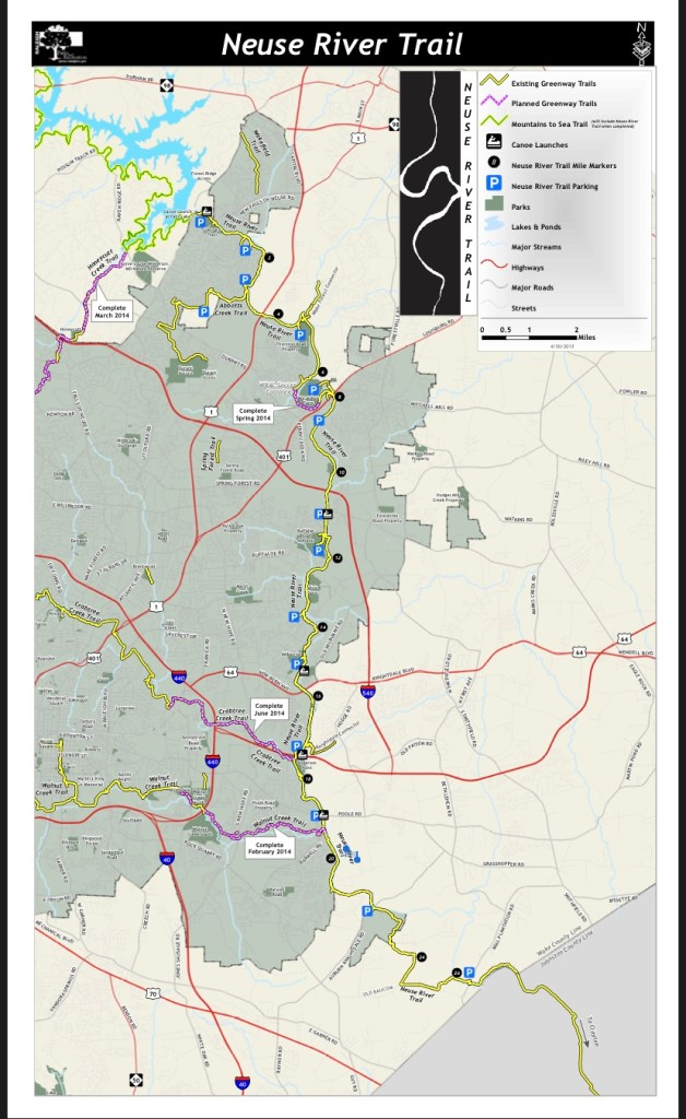 Neuse River Trail Map to help with getting through COVID-19