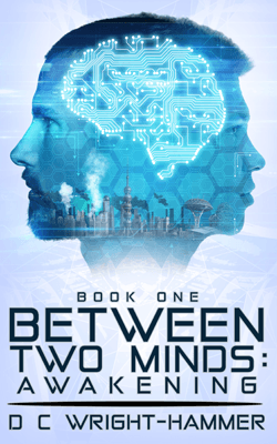 Indie Authors Between Two Minds Awakening by D C Wright Hammer book cover
