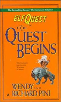 Inspiring Books For Authors ElfQuest: The Quest Begins by Wendy and Richard Pini book cover