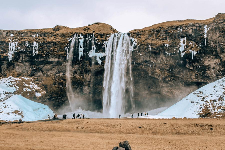 Seljalandsfoss waterfall on Ring Road Iceland