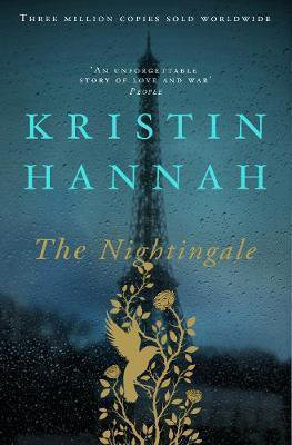 The Nightingale By Kristin Hannah turquoise book cover