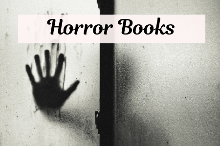 Horror Books that make you think with shadow of hand on windowpane