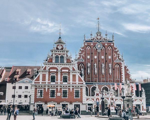 Baltics Itinerary Riga Town Hall Square in Latvia