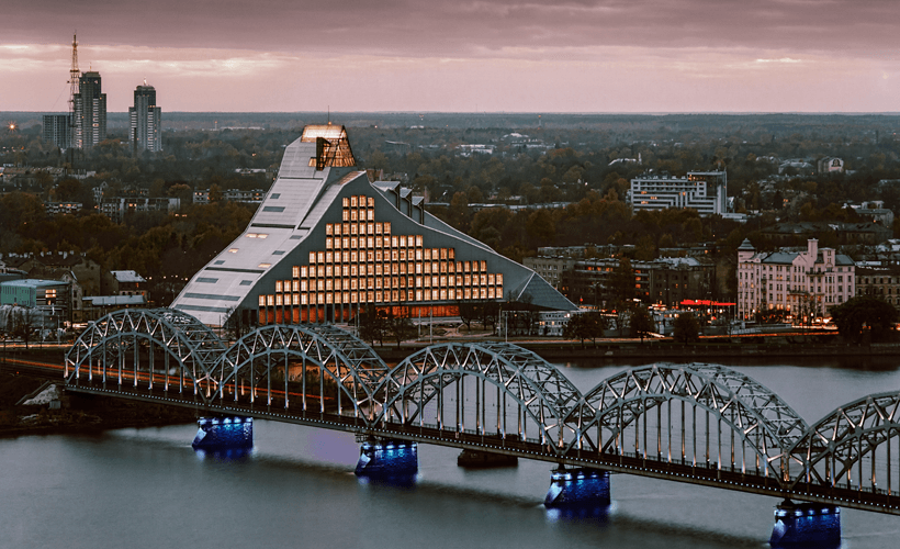 The National Library of Latvia in Riga