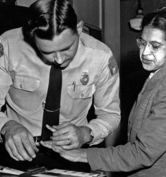 rosa parks is fingerprinted by police  [ 4500 x 3321 Pixel ]