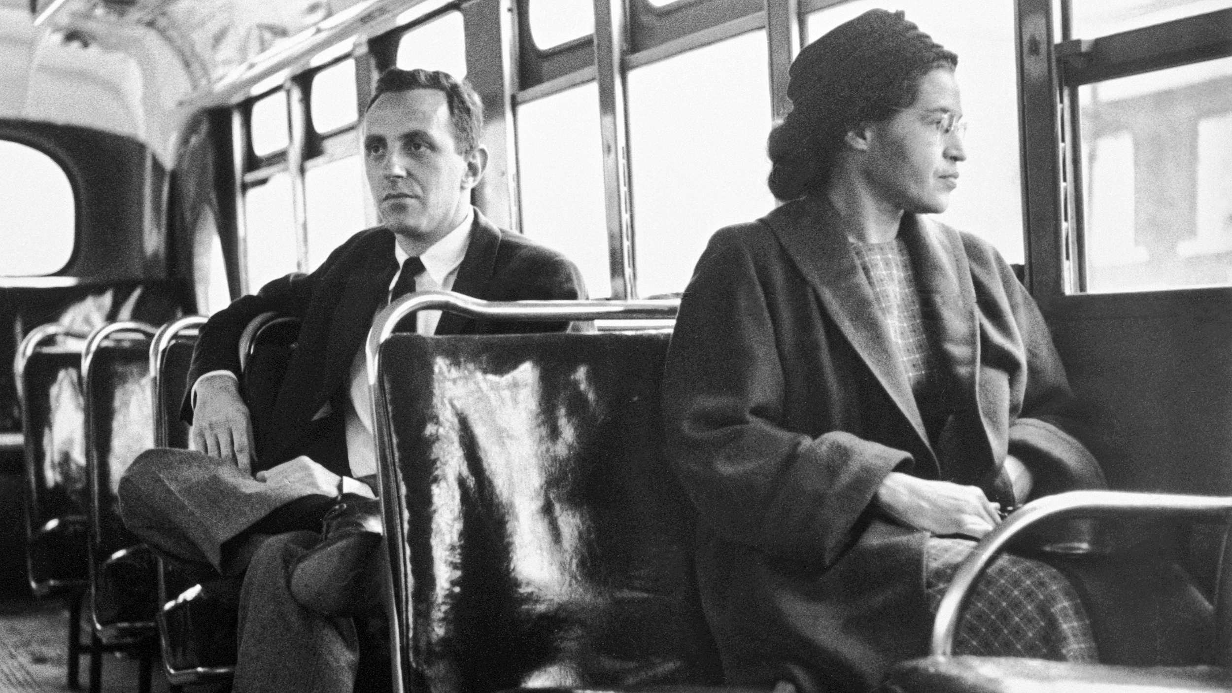 on this day rosa parks refused to give up her bus seat igniting the civil rights movement [ 2500 x 1406 Pixel ]
