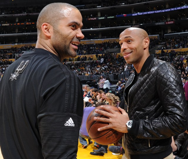 Spurs Tony Parker Returns To Lineup With Support From Friend Thierry Henry