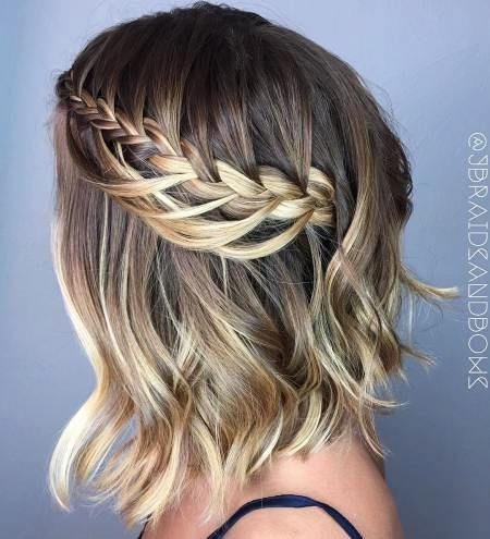 Amazing-Braided-Hairstyle Ombre Hairstyles for Short Hair