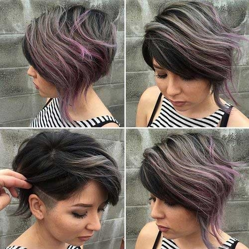 Ashy-Grey-Short-Hair Cute Girls Choice: Short Haircuts