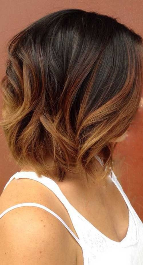 Balayage-Brown Remarkable Pics of Trendy Short Hairstyles for Women