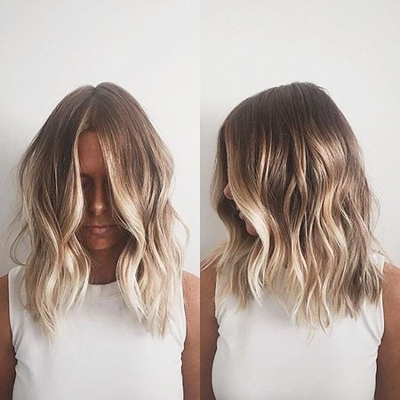 Blonde-Balayage-Bob Ombre Hairstyles for Short Hair