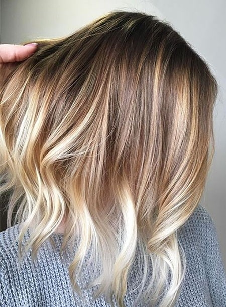 Blonde-Balayage-Short-Hair Ombre Hairstyles for Short Hair