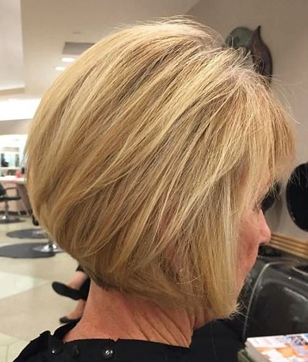 Blonde-Bob-Hair Short Bob Haircuts for Older Women