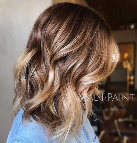 Blonde-Brown-Hair-Color Balayage Ombre Short Hair