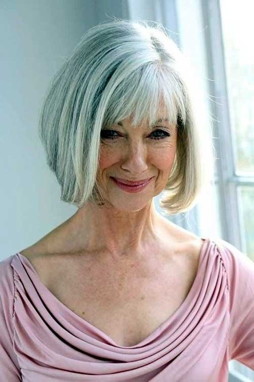 Bob-Haircut-with-Bangs Short Haircuts for Older Women 2018-2019