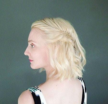 Braided-Wavy-Hair New Cute Hairstyles for Short Hair