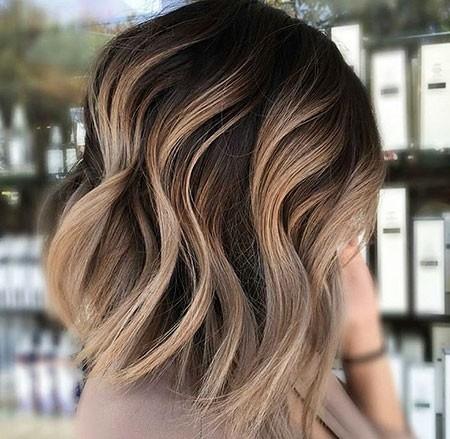 Brown-Ombre-Short-Hair Balayage Ombre Short Hair