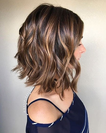 Caramel-Hair-Color Short Trendy Hairstyles 2018