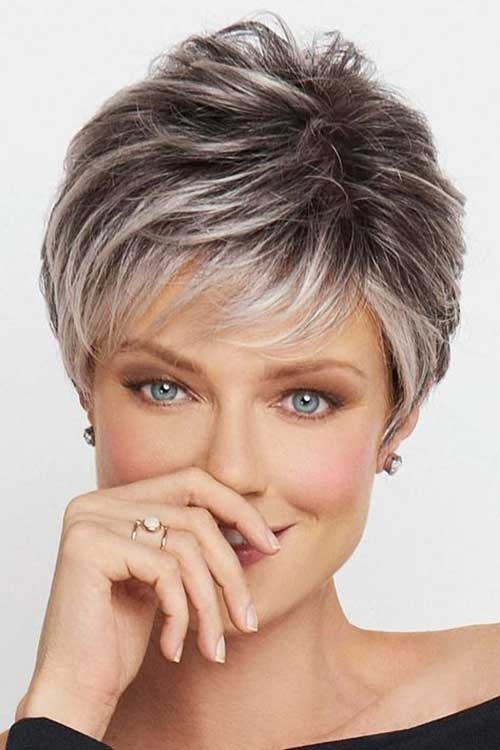 Casual-Short-Pixie Best Short Haircuts for Older Women