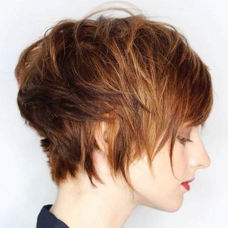 Choppy-Hair Cute Short Haircuts for Girls