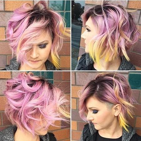 Coloured-Balayage-Short-Hair Balayage Ombre Short Hair