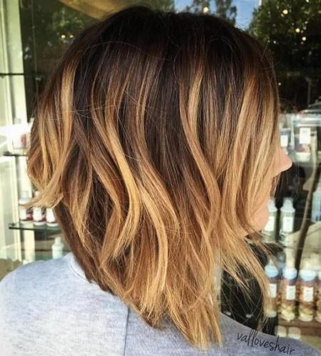 Cute-Bob-Style Balayage Ombre Short Hair