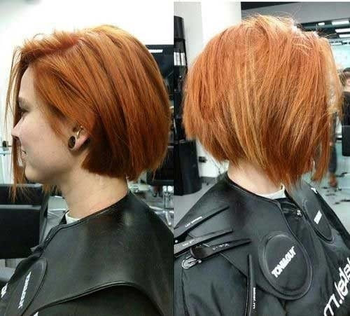 Cute-Colored Splendid Layered Short Haircuts for Ladies