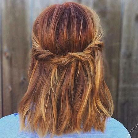 Cute-Hairstyle Easy Braids for Short Hair