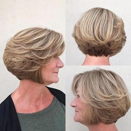 Cute-Layered-Bob-Haircut Short Bob Haircuts for Older Women