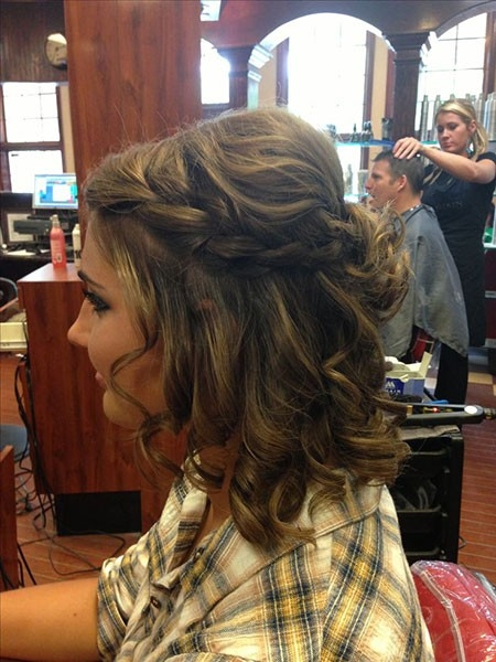 Cute-Prom-Hair-for-Short-Hair Prom Hairstyles for Short Hair