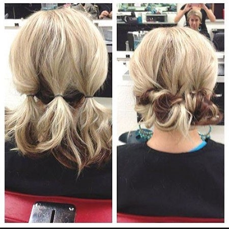 Cute-Style-1 Updo Hairstyles for Short Hair