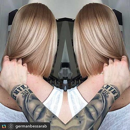 Cute-Style-for-Blonde-Hair New Short Straight Hairstyles 2018