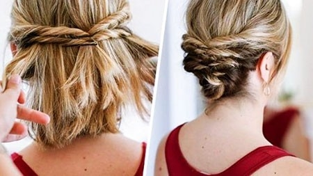 Cute-Updo-Hair Wedding Hairstyles for Short Hair