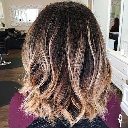 Dark-Bob-Hair-Color Balayage Ombre Short Hair