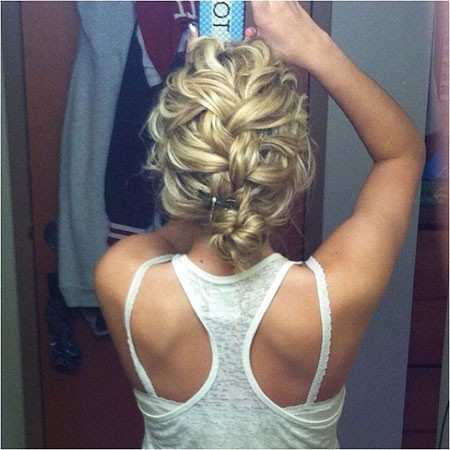 French-Braid-Hair Wedding Hairstyles for Short Hair