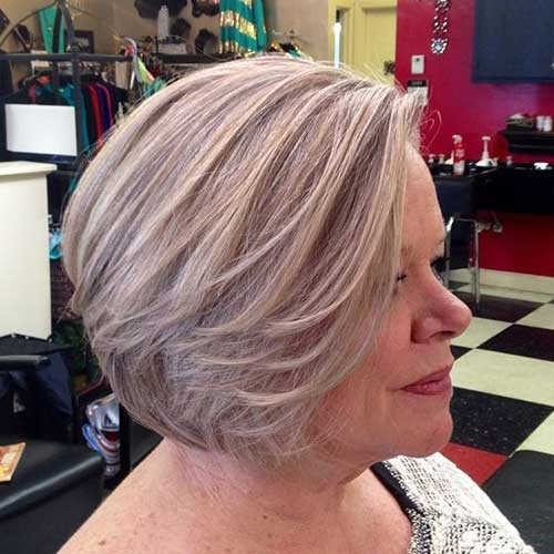 Gorgeous-Grey-Hair-Style Short Haircuts for Older Women 2018-2019