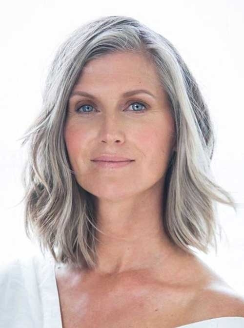 Gray-Hair-Style Short Haircuts for Older Women 2018-2019