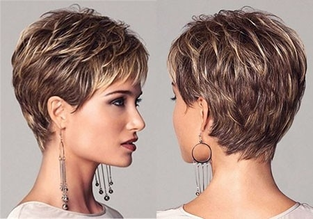 Layered-Haircut Great Short Hairstyles for Women 2018