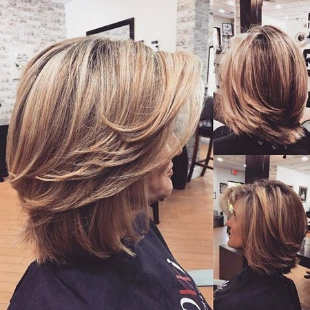 Layered-Stylish-Look Great Short Hairstyles for Women 2018