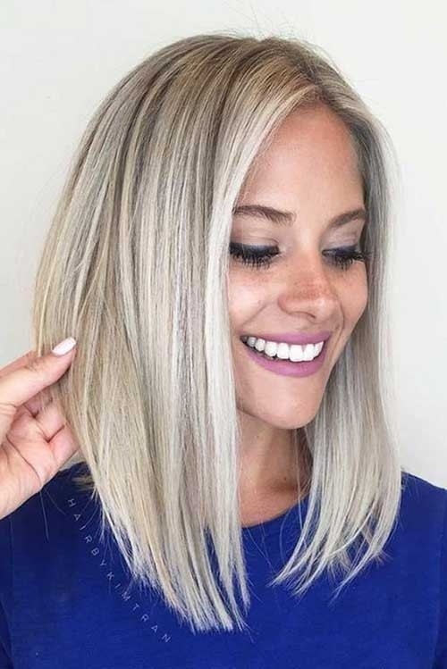 Long-Bob-Blonde-Hair Blonde Short Hair Ideas for Ladies