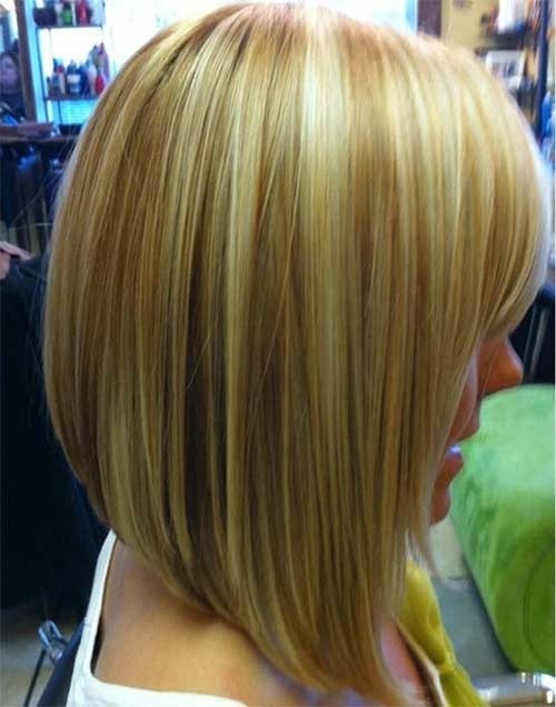 Long-Inverted-Blonde-Colored-Bob Inverted Bob Haircuts