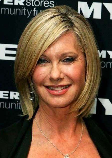 Medium-Bob-Haircut-for-Older-Women Best Short Haircuts for Older Women