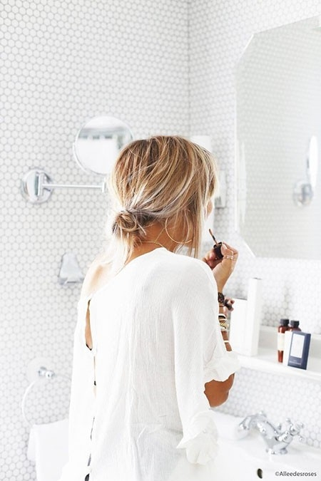 Messy-Updo-Hair Great Short Hairstyles for Women 2018
