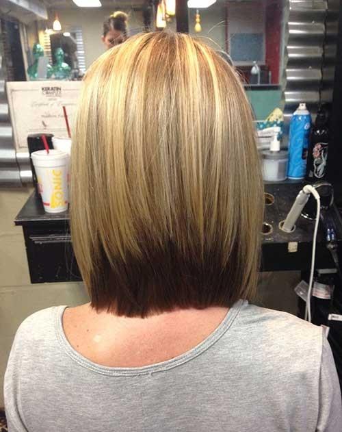 Ombre-Color-Inverted-Bob-Haircut Inverted Bob Haircuts