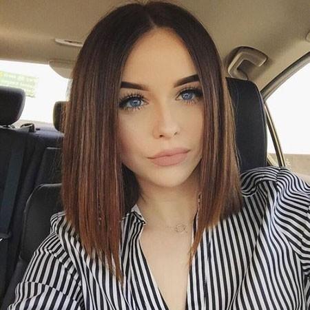 One-Length-Bob-Haircut Haircuts for Short Straight Hair